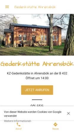 Vorschau der mobilen Webseite gedenkstatte-ahrensbok.business.site, Gedenkstätte Ahrensbök