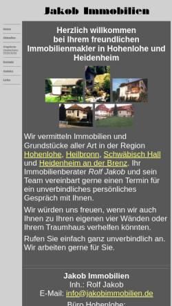 Vorschau der mobilen Webseite www.jakobimmobilien.de, Jakob Immobilien