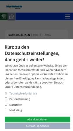 Vorschau der mobilen Webseite www.reise-reinhardt.de, Reiseagentur Reinhadt