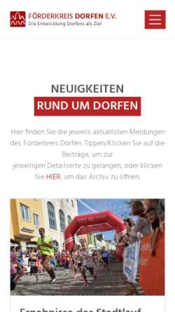 Vorschau der mobilen Webseite www.foerderkreis-dorfen.de, Förderkreis Dorfen e.V.