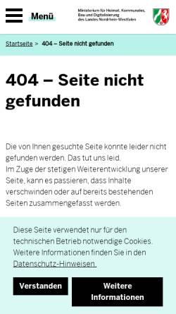 Vorschau der mobilen Webseite www.frauennrw.de, frauennrw.de