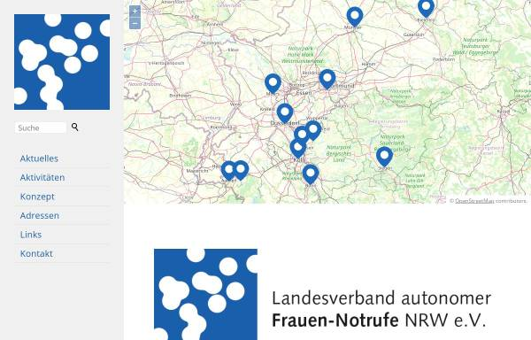 Vorschau von www.frauennotrufe-nrw.de, LAG autonomer Frauen-Notrufe in NRW