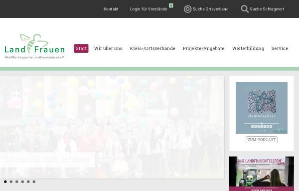 Vorschau von www.wllv.de, Westfälisch-Lippischer LandFrauenverband e.V.
