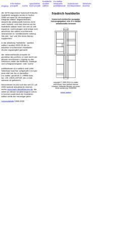 Vorschau der mobilen Webseite www.hoelderlin.de, Friedrich Hölderlin - Dokumente und Edition