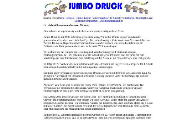 Vorschau von www.jumbo-druck.de, Jumbo Druck, Joh. Bormann