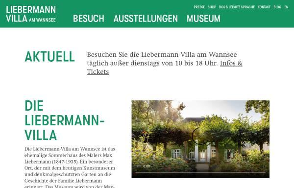 Vorschau von www.max-liebermann.de, Max-Liebermann-Gesellschaft Berlin e.V.