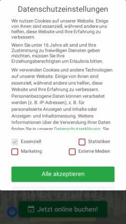 Vorschau der mobilen Webseite www.gartenderschmetterlinge.de, Garten der Schmetterlinge