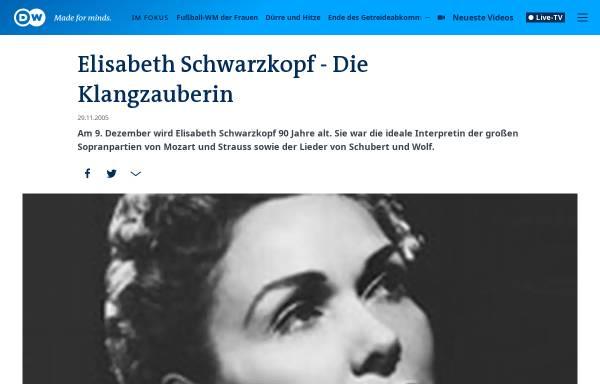 Vorschau von www.dw-world.de, Elisabeth Schwarzkopf - Die Klangzauberin