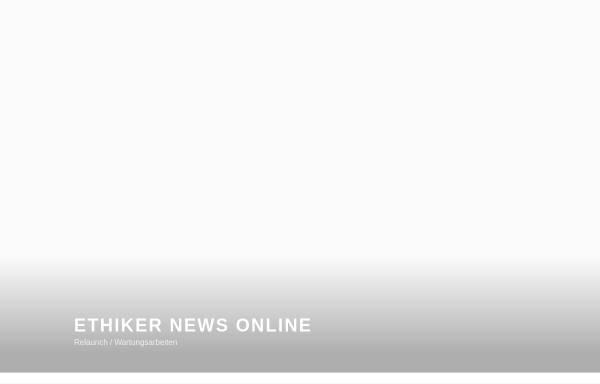 Vorschau von www.ethiker.com, Ethiker-Die Tageszeitung