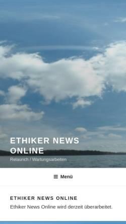 Vorschau der mobilen Webseite www.ethiker.com, Ethiker-Die Tageszeitung