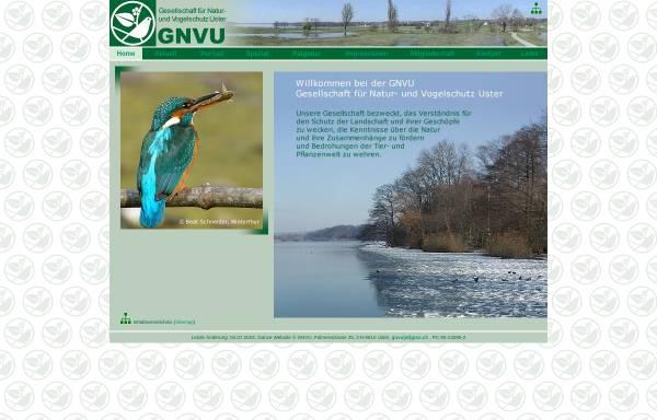 Vorschau von www.gnvu.ch, GNVU Gesellschaft für Natur- und Vogelschutz Uster