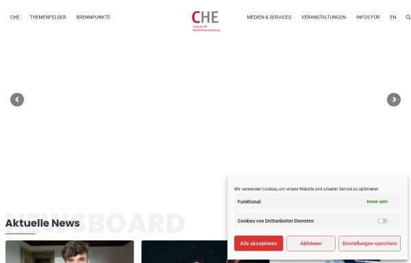 Vorschau von www.che.de, Centrum für Hochschulentwicklung (CHE)