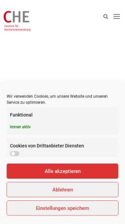 Vorschau der mobilen Webseite www.che.de, Centrum für Hochschulentwicklung (CHE)