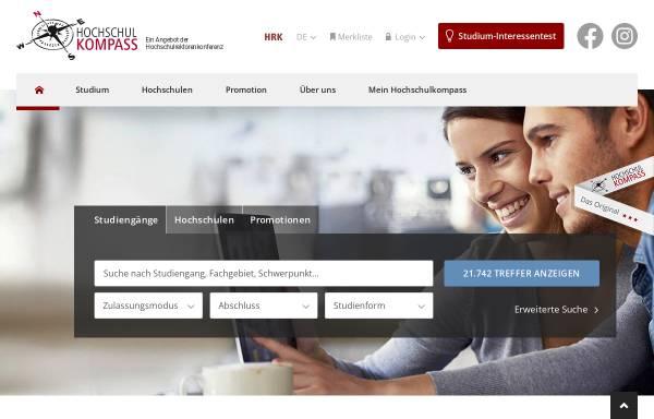 Vorschau von www.hochschulkompass.de, Hochschulkompass der HRK