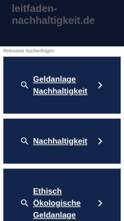 Vorschau der mobilen Webseite leitfaden-nachhaltigkeit.de, Leitfaden