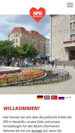 Vorschau der mobilen Webseite www.spd-neukoelln.de, SPD Neukölln
