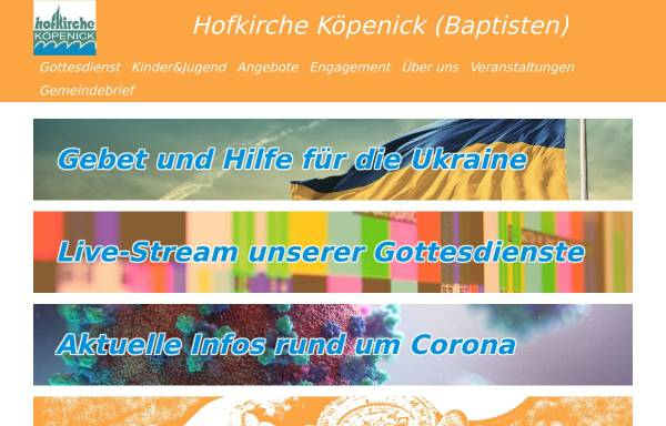 Vorschau von www.hof-kirche.de, Hofkirche Köpenick