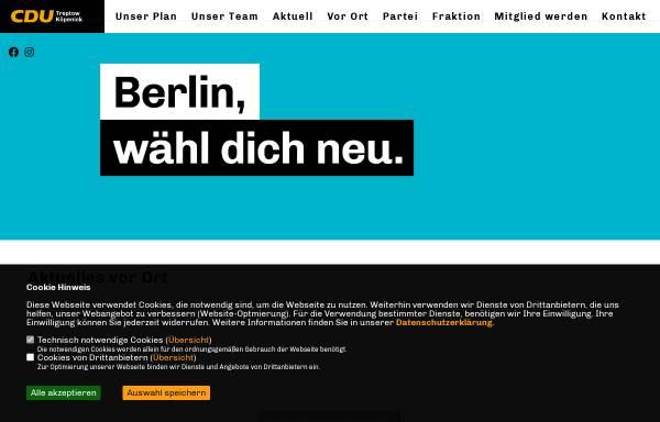 Vorschau von www.cdu-tk.de, CDU Treptow-Köpenick