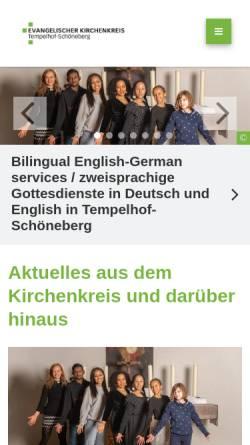 Vorschau der mobilen Webseite www.ts-evangelisch.de, Evangelischer Kirchenkreis Berlin-Schöneberg