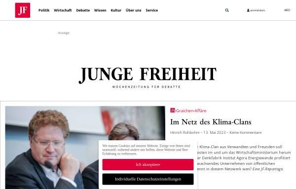 Vorschau von jungefreiheit.de, Junge Freiheit