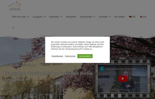 Vorschau von www.baptisten-tempelhof.de, Evangelisch-Freikirchliche Gemeinde Berlin-Tempelhof - Baptisten