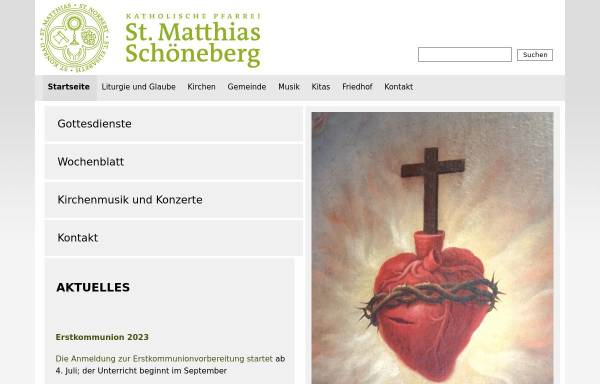 Vorschau von st-matthias-berlin.de, Katholischen Kirchengemeinde St. Matthias