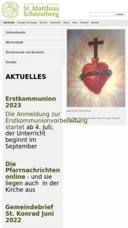 Vorschau der mobilen Webseite st-matthias-berlin.de, Katholischen Kirchengemeinde St. Matthias