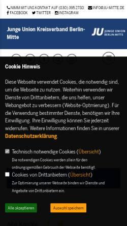 Vorschau der mobilen Webseite ju-mitte.de, Junge Union Berlin-Mitte