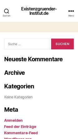 Vorschau der mobilen Webseite www.existenzgruender-institut.de, Existenzgründer-Institut Berlin e.V.
