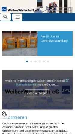 Vorschau der mobilen Webseite www.weiberwirtschaft.de, Die WeiberWirtschaft.