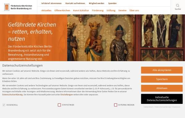 Vorschau von www.altekirchen.de, Förderkreis Alte Kirchen Berlin-Brandenburg e.V.