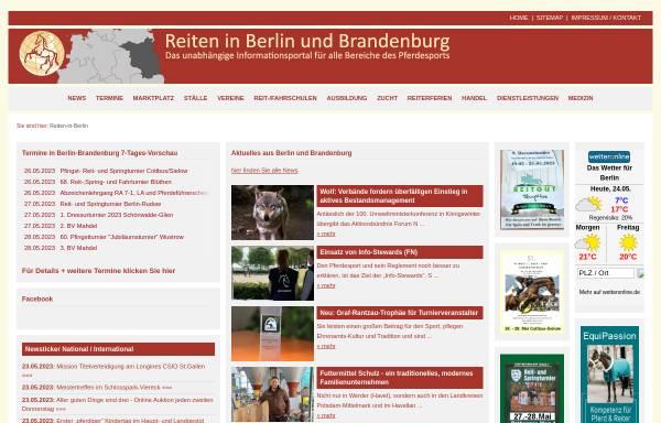 Vorschau von www.reiten-in-berlin.de, Reiten in Berlin und Brandenburg