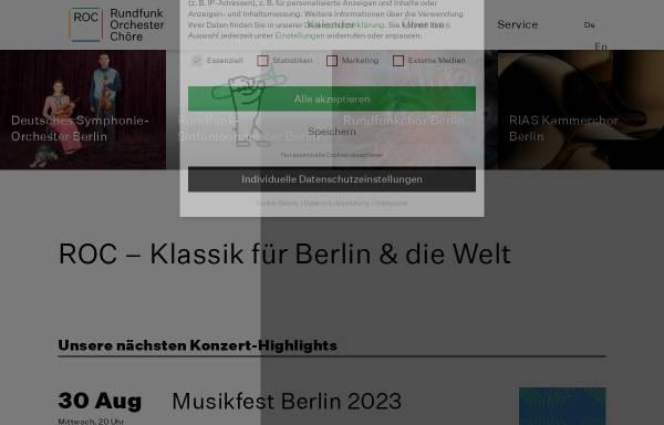 Vorschau von www.roc-berlin.de, Rundfunk-Orchester und -Chöre GmbH (ROK)