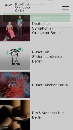 Vorschau der mobilen Webseite www.roc-berlin.de, Rundfunk-Orchester und -Chöre GmbH (ROK)
