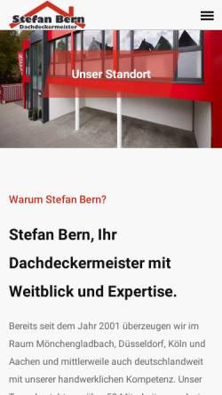 Vorschau der mobilen Webseite www.stefanbern.de, Dachdecker Stefan Bern