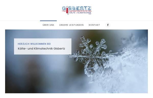 Vorschau von www.kaelte-gisbertz.de, Gisbertz - Kälte und Klimatechnik GmbH