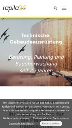 Vorschau der mobilen Webseite www.rapita.de, Ingenieurbüro Rapita