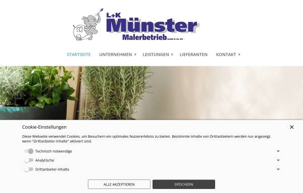 Vorschau von www.muensterluk.de, L. u. K. Münster GmbH & Co KG
