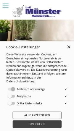 Vorschau der mobilen Webseite www.muensterluk.de, L. u. K. Münster GmbH & Co KG