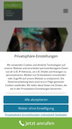 Vorschau der mobilen Webseite www.rolladen-muellers.de, Rolladen Müllers GmbH & Co. KG