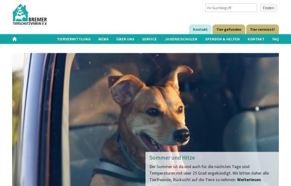 Vorschau von www.tierheim-bremen.de, Bremer Tierheim