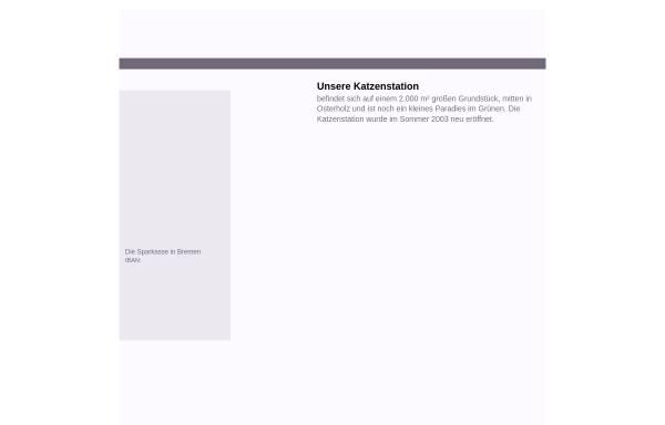 Vorschau von www.katzenschutzbund-bremen.de, Katzenschutzbund Bremen e.V.