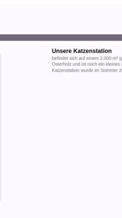 Vorschau der mobilen Webseite www.katzenschutzbund-bremen.de, Katzenschutzbund Bremen e.V.