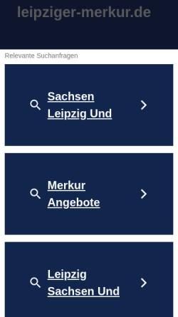 Vorschau der mobilen Webseite www.leipziger-merkur.de, Leipziger Merkur