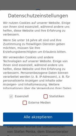 Vorschau der mobilen Webseite www.penka-stb.de, Stefan Penka Steuerberater