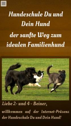 Vorschau der mobilen Webseite www.du-und-dein-hund.de, Hundeschule Du und Dein Hund
