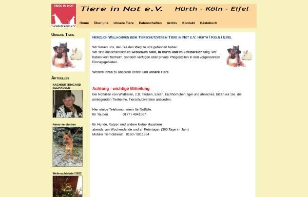Vorschau von www.tiere-in-not-ev.de, Tiere in Not e.V.