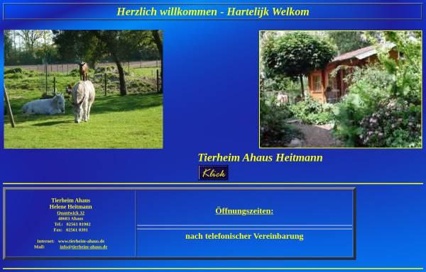 Vorschau von www.tierheim-ahaus.de, Tierheim Heitmann