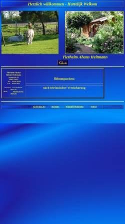 Vorschau der mobilen Webseite www.tierheim-ahaus.de, Tierheim Heitmann