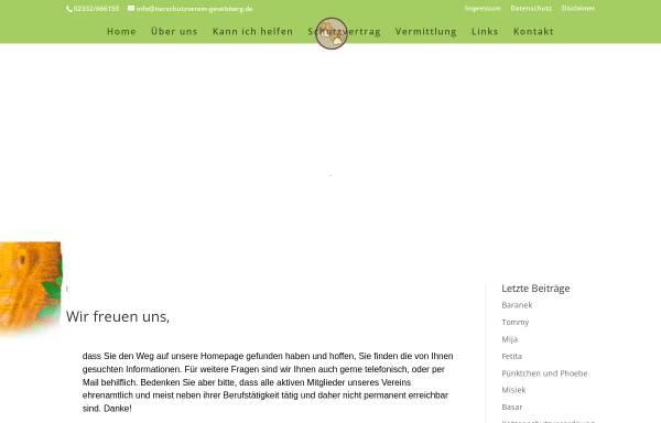 Vorschau von www.tierschutzverein-gevelsberg.de, Tierschutzverein Gevelsberg e.V.